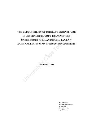 thesis on tax avoidance Tax avoidance: causes and solutions ling zhang master of business 2007 the thesis submitted to auckland university of technology in partial fulfillment of the.
