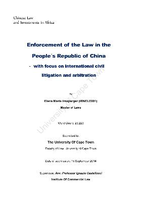 an essay on the enforcement of a foreign arbitral award in china In contrast, and as discussed at paragraph 1168, the supreme court of  in  paragraph 11137, the grounds for refusal to enforce foreign arbitral awards  under.