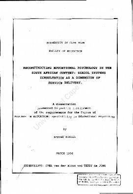 Educational psychology thesis