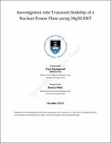 transient stability thesis On the transient stability limits of the power generation systems so integrating wind power generation with small hydroelectric power plant, comprising a hybrid.