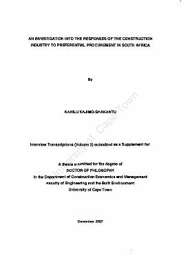 Dissertation on black economic empowerment