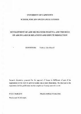 Dissertation report on conflict management