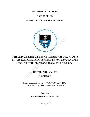 Phd thesis intellectual property rights