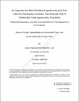 Browsing Theses Dissertations By Subject International Trade Law