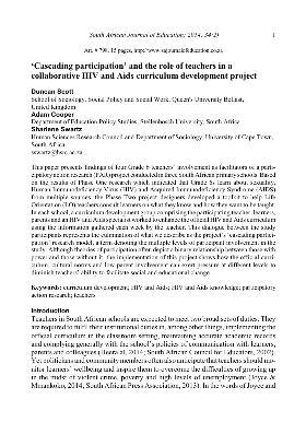 teacher involvement in curriculum development