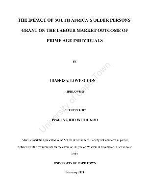 African dissertation on labour