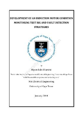 Development of an induction motor condition monitoring test