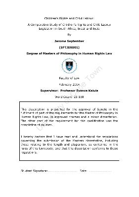 Dissertation on human rights pdf